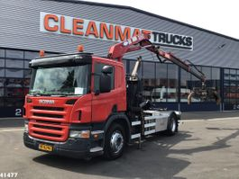 containersysteem vrachtwagen Scania P230 HMF 10 ton/meter laadkraan 2007