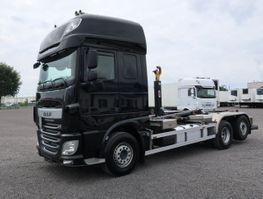 containersysteem vrachtwagen DAF XF 440 6x2 SC Lenkachse Hyva Lift 2016