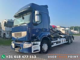 containersysteem vrachtwagen Renault Premium 450 DXI / 6X2 / Euro 5 / Airco / TUV: 4-2022 / German Truck 2009