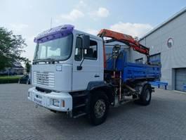 kipper vrachtwagen > 7.5 t MAN 19.270 / MANUAL / TIPPER / 10 TONS CRANE / FULL STEEL / 1994 / EURO-2 1994