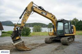 rupsgraafmachine Caterpillar 313FL with rotor tilt, blade, pinch and cleaning b 2019