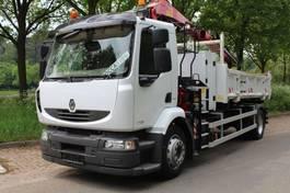 kipper vrachtwagen > 7.5 t Renault Midlum 270 RENAULT MIDLUM 18.270 KIPPER MET KRAAN 2012