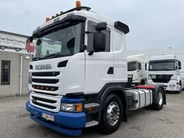 standaard trekker Scania G450 EURO 6 + 406.523 KM + RETARDER + HYDRAULIC + WALKINGFLOOR + ADR 2016