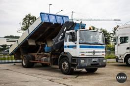 kipper vrachtwagen > 7.5 t Renault G280 Manager HIAB 145-5 Benne Grue CT valable! 1992