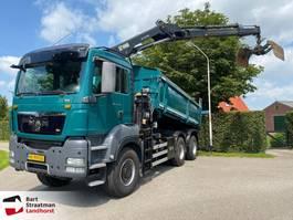 kipper vrachtwagen > 7.5 t MAN TGS 33 6x6 widespread kipper met Hiab 144 D-2 pro autolaadkraan 2012