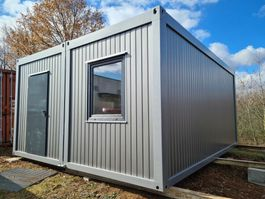 kantoor woonunit container Vamiro Cell-DUO containers 4.88 x 5.85m silver NEW, Residential container, Office container, Living container, Commercial container 2021