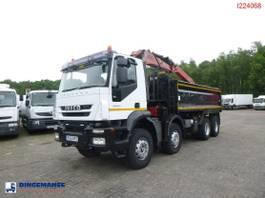 kipper vrachtwagen > 7.5 t Iveco AD340T36 8X4 RHD tipper + Hiab 1282 DK-2 Duo 2008
