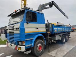 kipper vrachtwagen > 7.5 t Scania 142H 420 V8 6X2 + HEILA HL-L 10000-2S 1996 1985