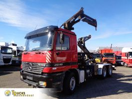 containersysteem vrachtwagen Mercedes-Benz Actros 2640 Containerauto + Hiab 155-3 Crane + Multilift Hook-system + 3 pedals + Lo... 2000