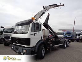 containersysteem vrachtwagen Mercedes-Benz 2433 + Semi-Auto + PTO + Serie 14 Crane + 3 pedals 1992
