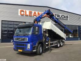kipper vrachtwagen > 7.5 t Volvo FM 9 Hiab 21 ton/meter laadkraan 2009