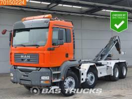containersysteem vrachtwagen MAN TGA 41 8X4 Intarder BigAxle Steelsuspension Euro 4 2005