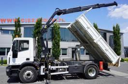 kipper vrachtwagen > 7.5 t Iveco EuroCargo 160 160E25 , EEV , 4X2 , tipper + Crane , Remote Control 2014