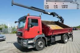 kipper vrachtwagen MAN TGM 18 4x2 2-Achs Kipper Heckkran EEV 2011