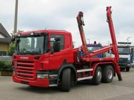 containersysteem vrachtwagen Scania P380 6x2/4HNA Absetzkipper Deutsch Meiller AK 1 2007