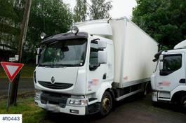 bakwagen vrachtwagen Renault Box truck w/ lift and heater in the box 2012
