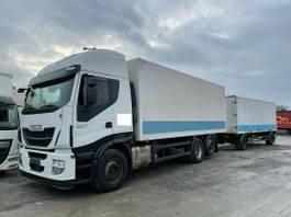bakwagen vrachtwagen Iveco Stralis 460 460E6 Lenkachse Durchlader +Anhänger 2015