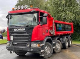 kipper vrachtwagen > 7.5 t Scania G450 8X4 Meiller-Stahl Schalter 2015