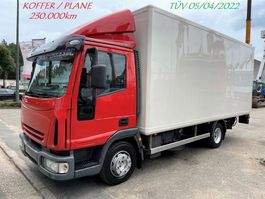 bakwagen vrachtwagen Iveco ML100E18 - BOX & CURTAINSIDE - MANUAL GEARBOX - STEEL SPRING SUPENSION - GROSS WEIGHT 10T - EURO 3 - TÜV 04/2022 - BOX 5m50 x 2m30 x 2m25 2006