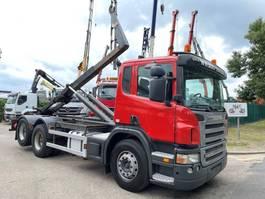 containersysteem vrachtwagen Scania P420 6x2 CONTAINER HAAKSYSTEEM AJK / AMPLIROL / ABROLLKIPPER - *453.000km* - LIFT-AS - 10 BANDEN - BELG 2005