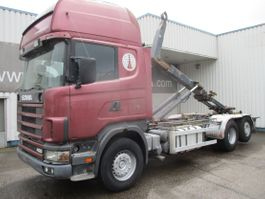 containersysteem vrachtwagen Scania R124 , 6x2 , Manual , Intarder , Airco , haakarm truck 1999