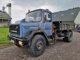 kipper vrachtwagen > 7.5 t Magirus Deutz 170D17 Kipper + Crane 1976