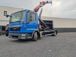 containersysteem vrachtwagen MAN TGL 12 Container kraan Palfinger PK8501 2012