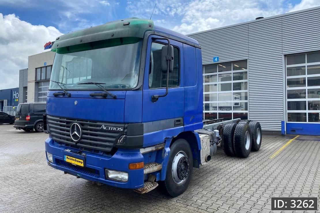 chassis cabine vrachtwagen Mercedes-Benz Actros 2653 F04, Euro 3, // Full Steel // EPS 3 pedals // V8 // Retarder // 10 tyres... 2000