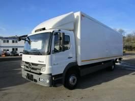 bakwagen vrachtwagen Mercedes-Benz Atego 1218 III L Koffer 8,25 m LBW 1,25 to. 2012