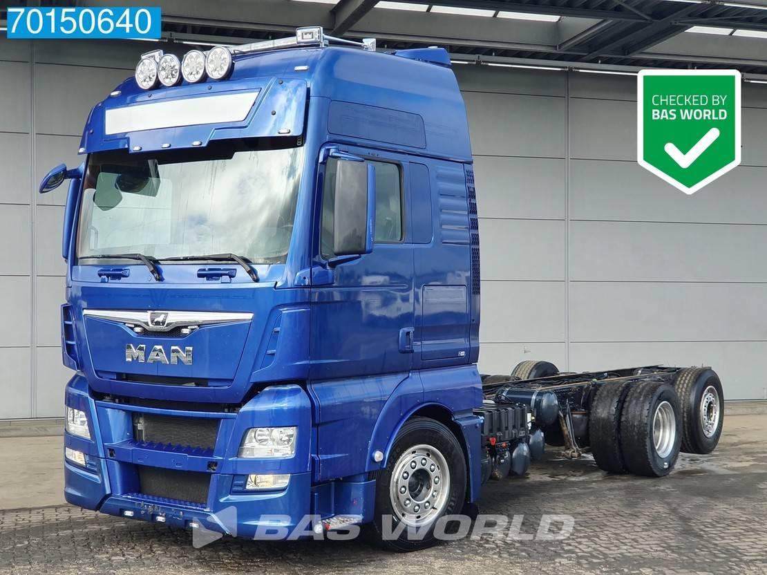 chassis cabine vrachtwagen MAN TGX 26 6X2 XXL Intarder Liftachse Navi Xenon 2014