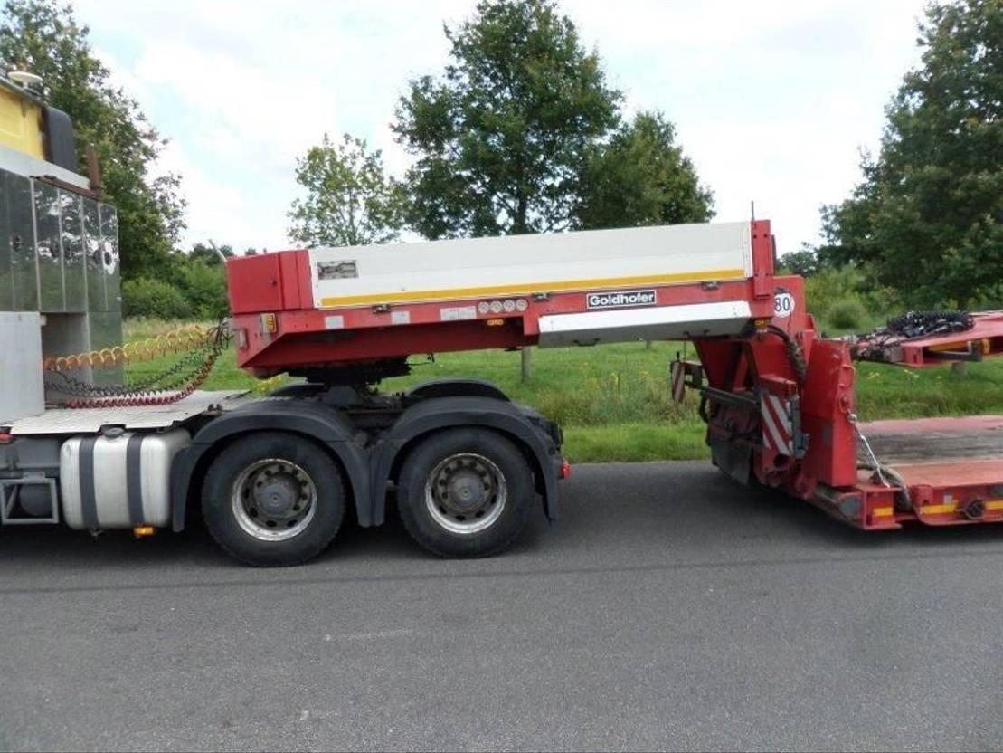 semi dieplader oplegger Goldhofer STZ VL4-52/80a  + SX 2-33/80 2 axle dolly 2012