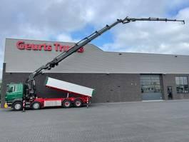 kipper vrachtwagen Scania R500 V8 8X4 3 ZIJDIGE KIPPER/TIPPER + HIAB 622E-6 + JIB 150X-6 KRAAN/KRAN/CRANE/GRUA 2013