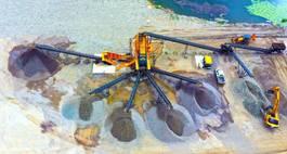 breker FABO 250 TPH Stationary sand screening & washing plant