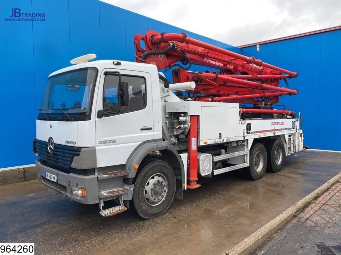 betonpomp vrachtwagen Mercedes-Benz Atego 2628 6x4, Putzmeister pump, 28 mtr, Remote 2005