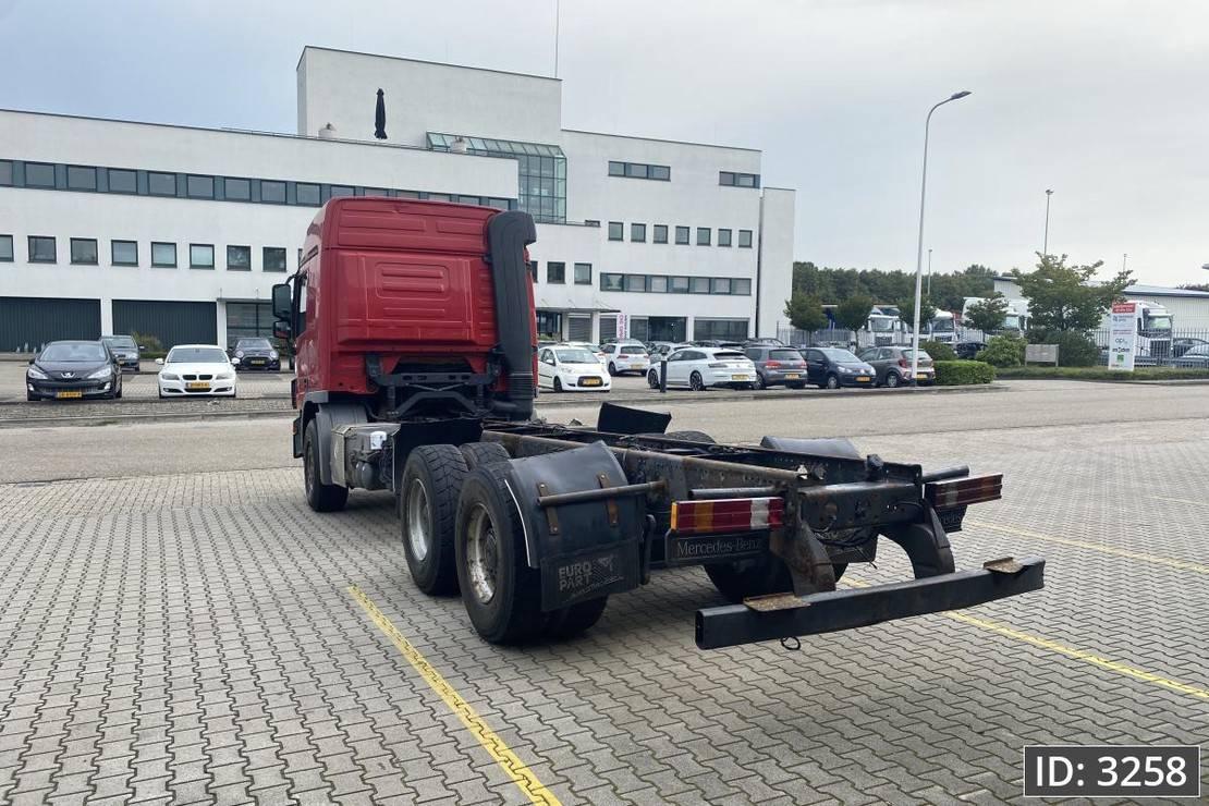 chassis cabine vrachtwagen Mercedes-Benz Actros 2648 F04, Euro 5, // Manual // Full Steel // Big Axles // Hub reduction 2008