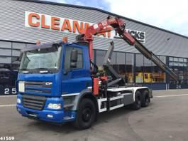 containersysteem vrachtwagen DAF CF 430 FAS 85 HMF 18 ton/meter laadkraan 2006