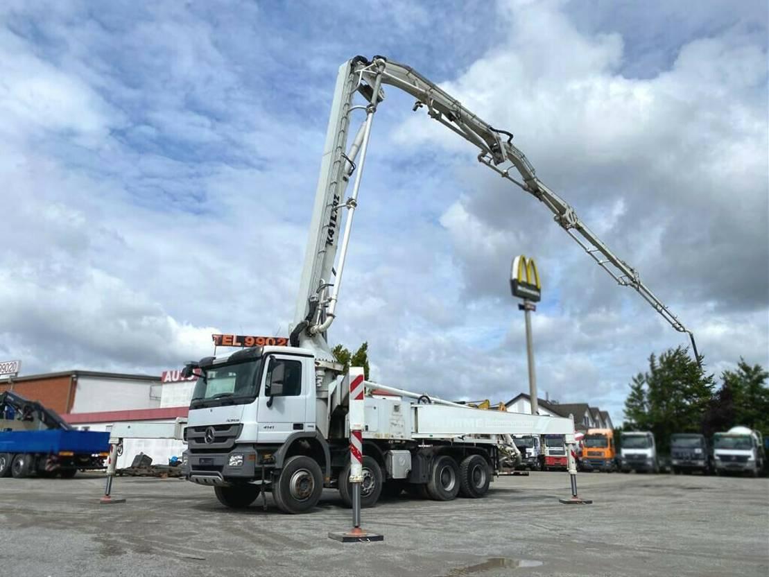 betonpomp vrachtwagen Mercedes-Benz Actros 4141 K 8x4 Betonpumpe Deutsch nur 1684h 2013