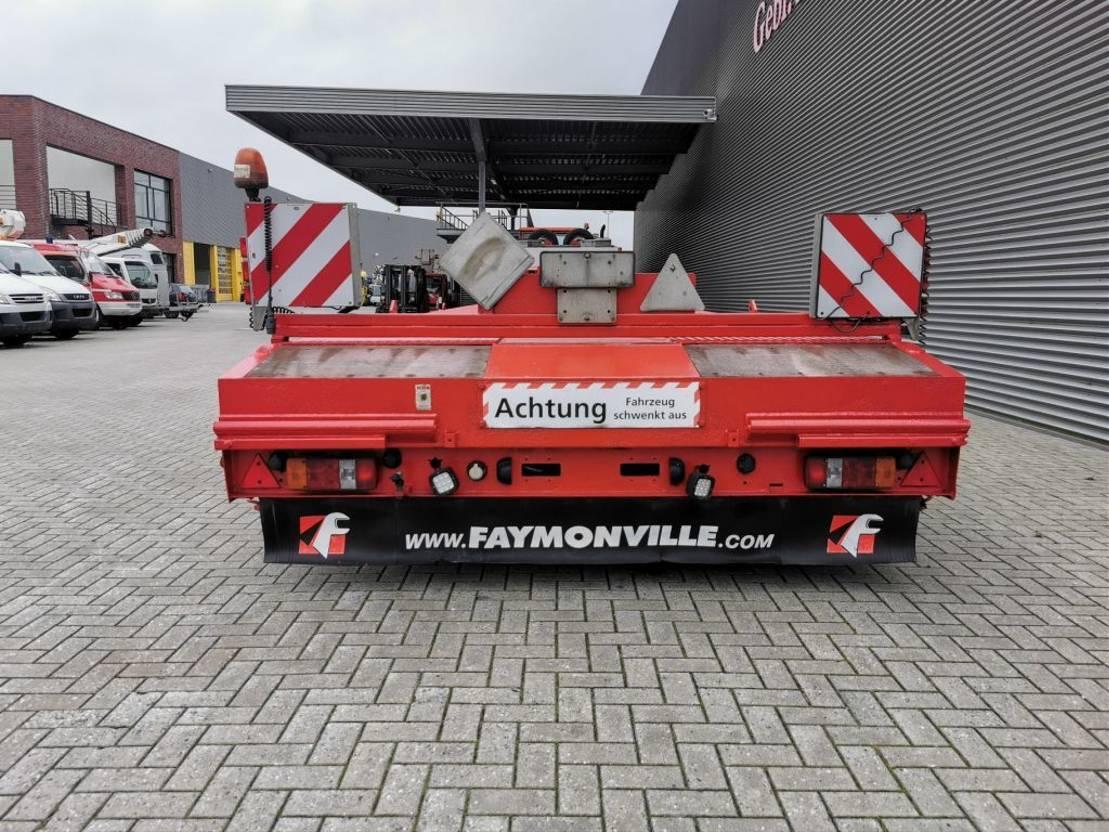 semi dieplader oplegger Faymonville STZ-8WA 7 Meter extandable 4 Liftaxles Powersteering! 2004