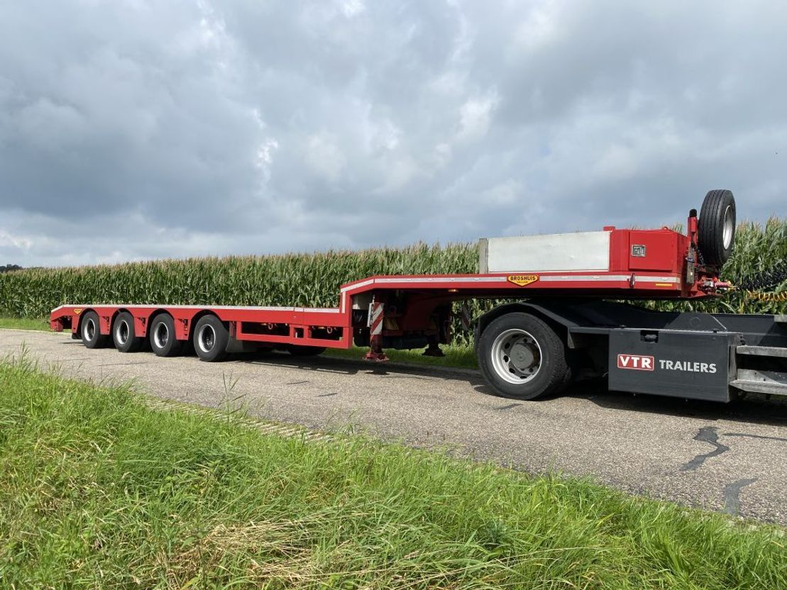 semi dieplader oplegger Broshuis 4ABSD-58/2   DOUBLE EXTENSION   26 MTR   POWER STEERING 4 AXLE'S   NEW CONDITION !!!   2009