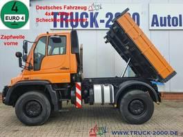 kipper vrachtwagen Unimog U400 4x4 3S-Kipper Zapf. Scheckheft Winterdienst 2008