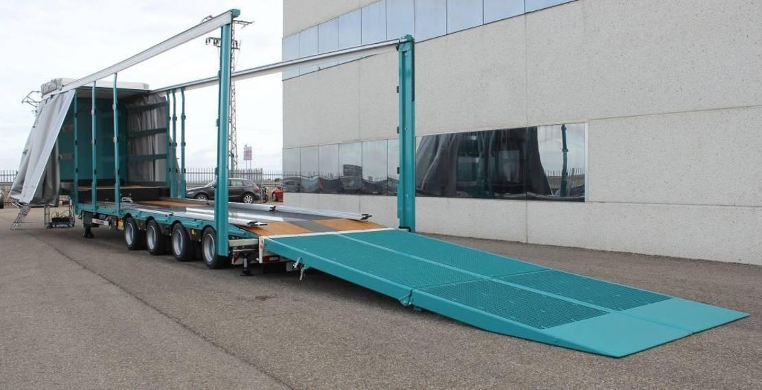 semi dieplader oplegger Rojo Trailer GPD4 Low Bed- Curtain Sider Ramps. 2020