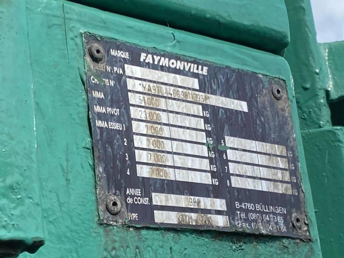 semi dieplader oplegger Faymonville STN-4AX 4 AXEL EXTENDABLE SEMI DIEPLADER/TIEFLADER/LOWLOADER 1998