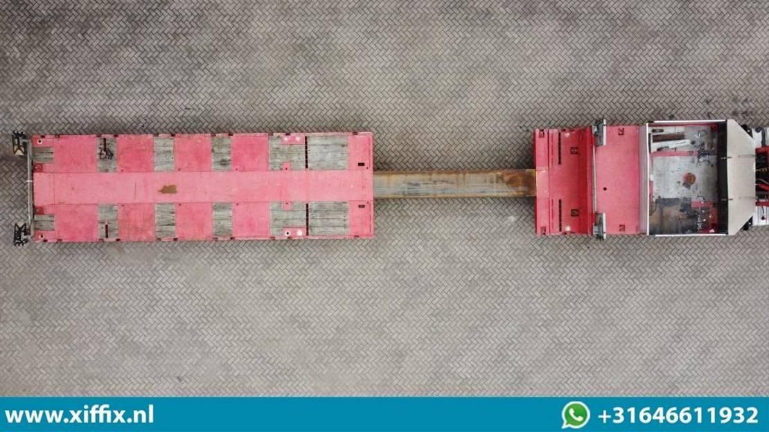 semi dieplader oplegger Goldhofer 4-ass. Uitschuifbare semi dieplader // 3x gestuurd // 78 cm. Hoog 2013