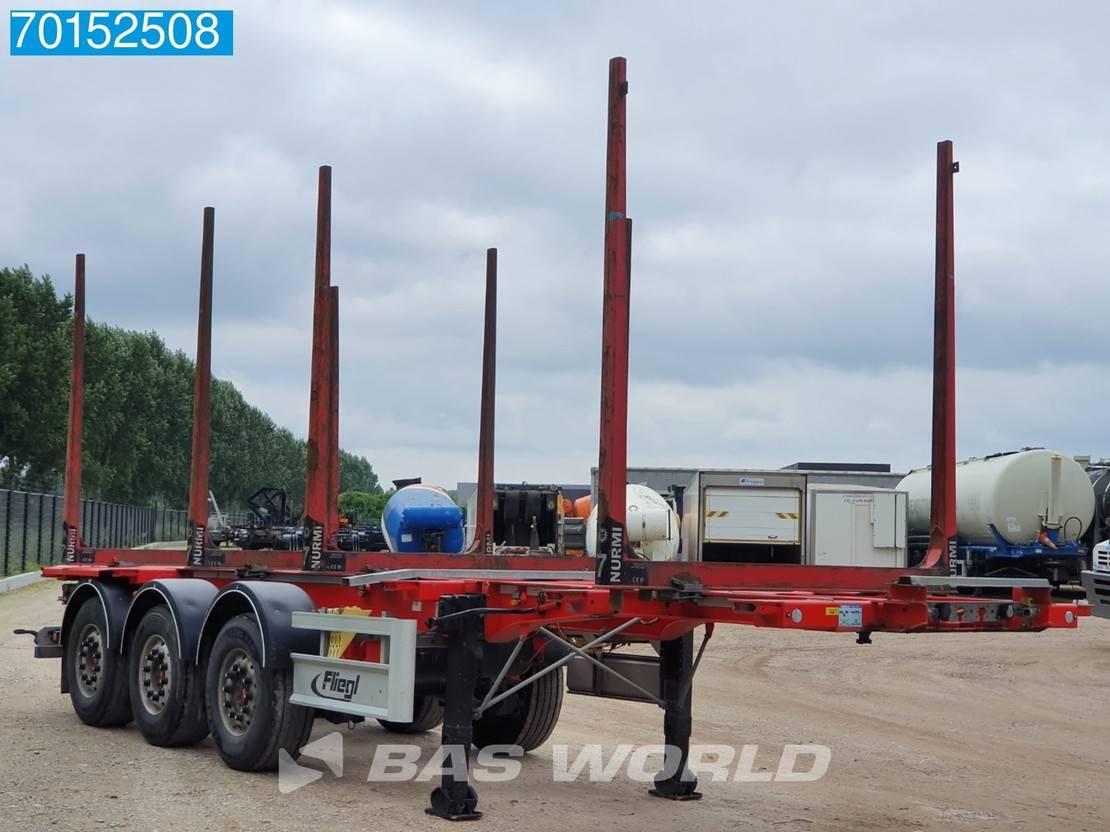 houtoplegger Fliegl SDS 3 axles Rungen Stahl Holztransport Liftachse 2018
