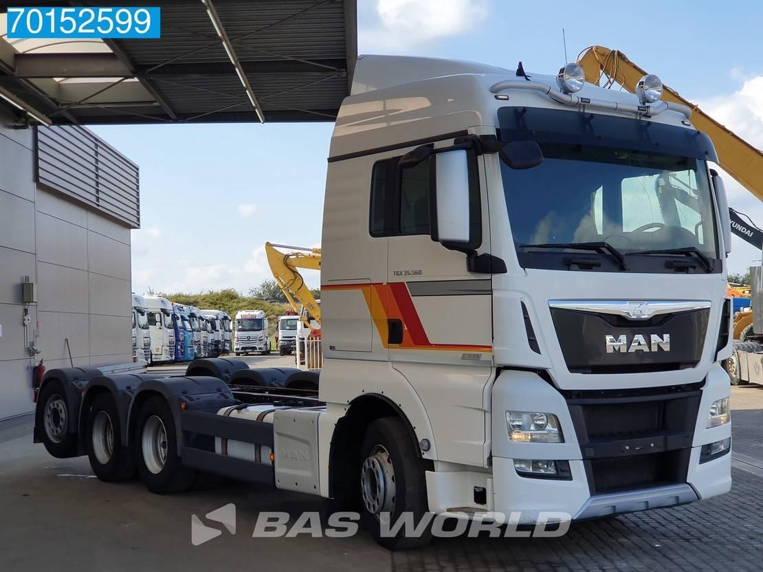 chassis cabine vrachtwagen MAN 35.560 8X4 XLX Intarder Lift+Lenkachse 2016