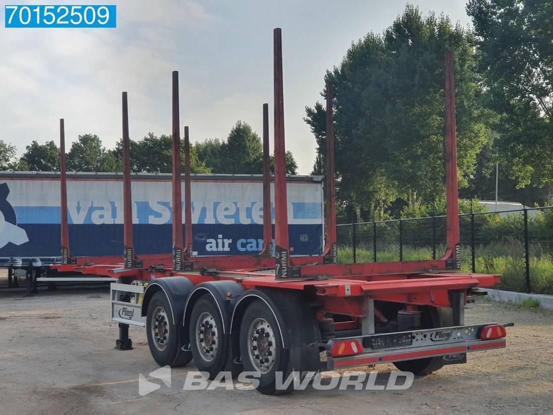 houtoplegger Fliegl SDS 3 axles Rungen Liftachse Holztransport 20+30ft. 2018