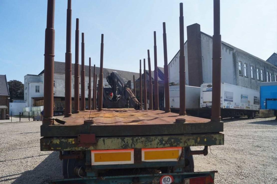 houtoplegger Trax 3-assige oplegger 1991