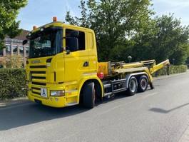 containersysteem vrachtwagen Scania R420 LB6X2 Absetzkipper Meiller AK 16. NT/Lift+Lenk 2008