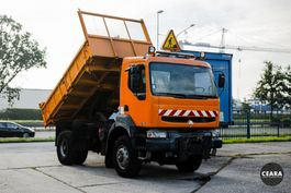 driezijdige kipper vrachtwagen Renault Kerax 370 4x4 benne 2002