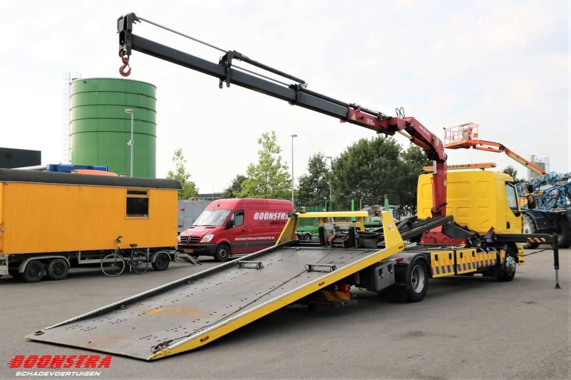 takelwagen-bergingswagen-vrachtwagen Renault Midlum 220 Falkom FAS 5000 Plateau + Kran + Bril 2006